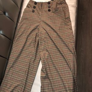 Plaid flare pants from Zara